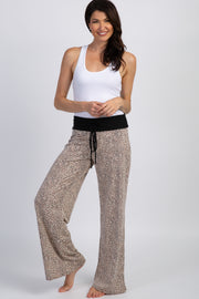 Taupe Animal Print Pajama/Lounge Pants