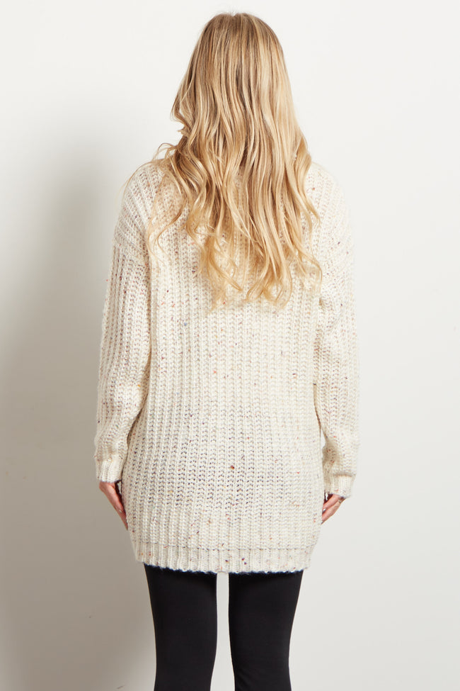 Ivory Multi-Color Maternity Sweater