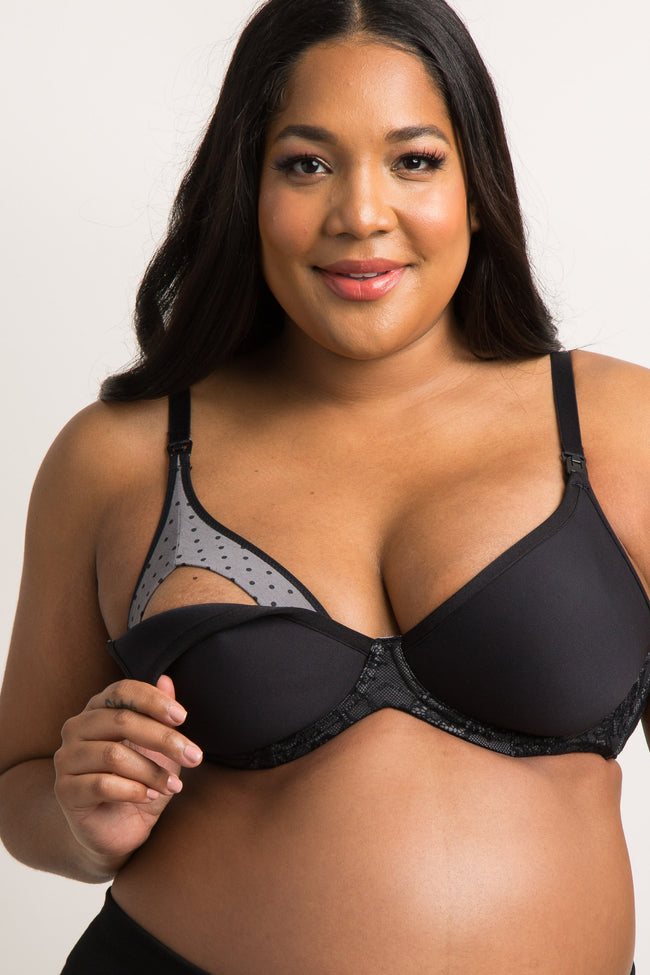 Black Cake Maternity Cinnamon Waffles 3D Spacer Bra