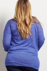 Blue Plus Maternity Sweater Top