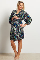 Multi Color Tribal Delivery/Nursing Maternity Robe