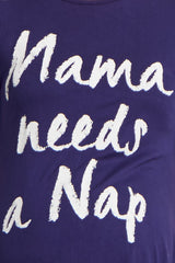 Navy Mama Needs A Nap Graphic Maternity Sleep Dress