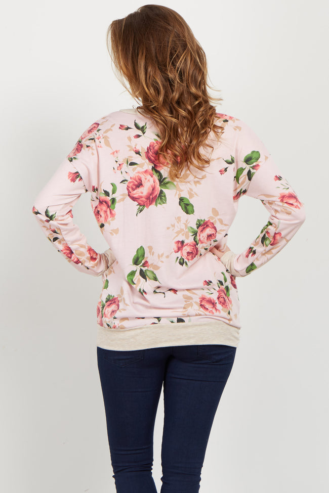 Pink Rose Long Sleeve Sweater