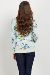 Blue Rose Long Sleeve Sweater