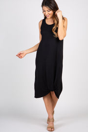 Black Sleeveless Knot Dress