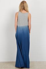 Teal Ombre Maxi Dress
