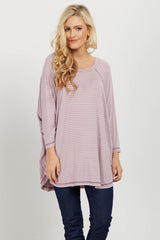 Lavender Striped Dolman Sleeve Top