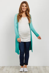 Mint Ombre Long Sleeve Maternity Cover Up