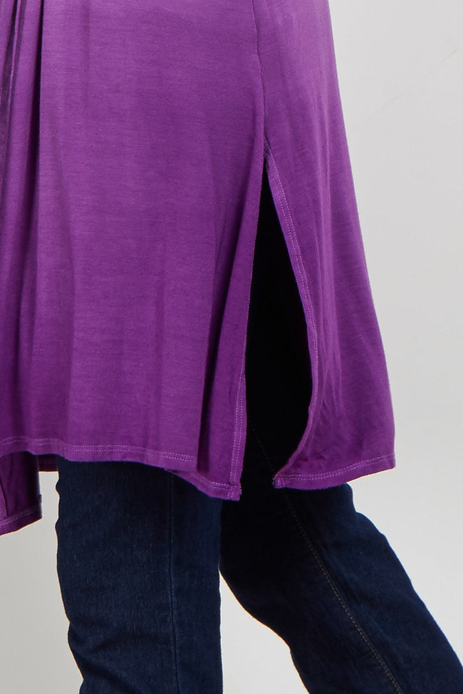 Purple Ombre Long Sleeve Maternity Kimono