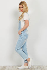 Light Blue Distressed Denim Boyfriend Overalls