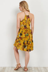 Yellow Floral Skater Dress
