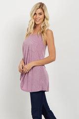 Purple Heathered Maternity Tank Top