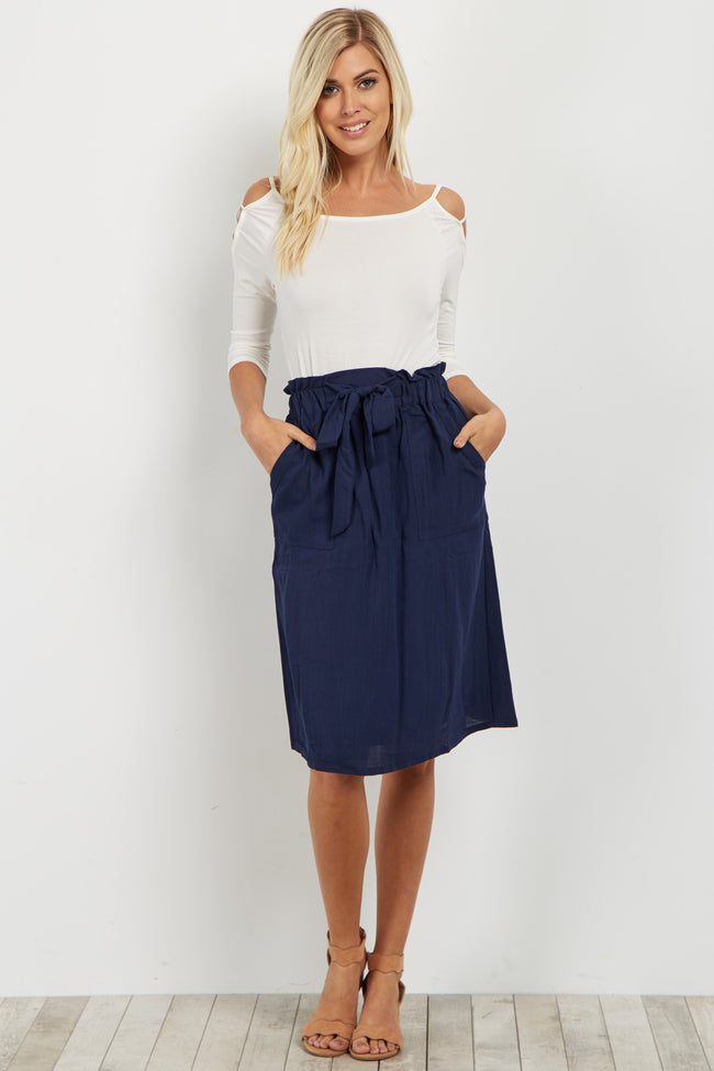 Navy Bow Tie Skirt