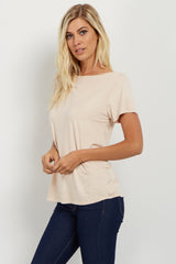 Light Pink Crisscross Cutout Back Top