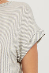 Ivory Striped Dolman Sleeve Top