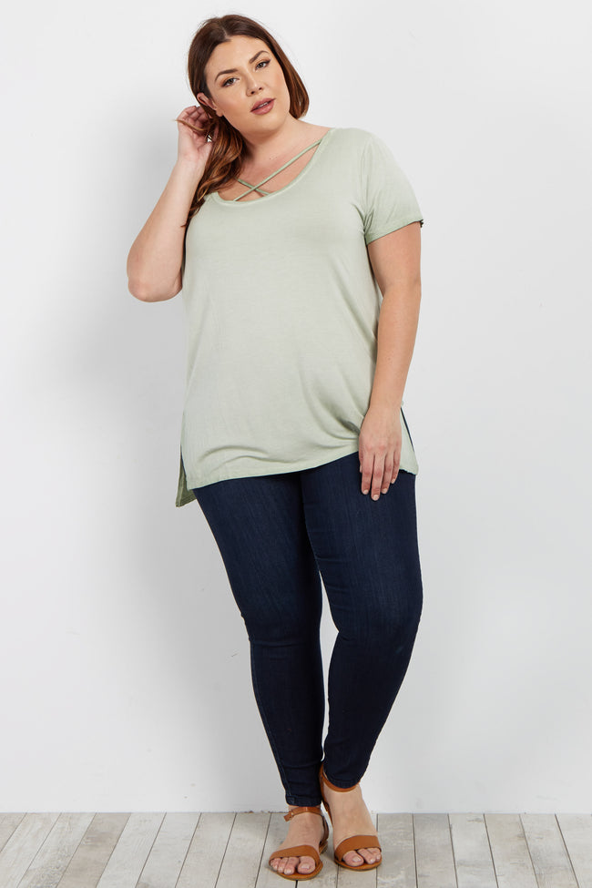 Sage Basic Crisscross Front Plus Top