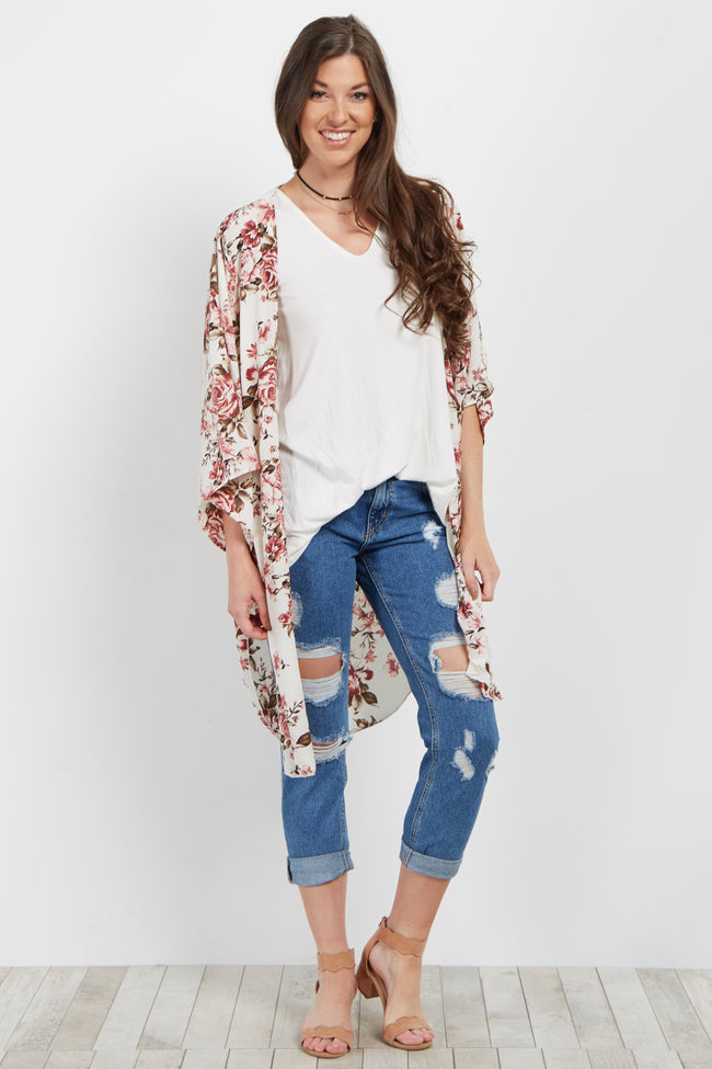 Ivory Rose Printed Cover Up