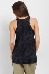 Black Faded Wash Tank Top