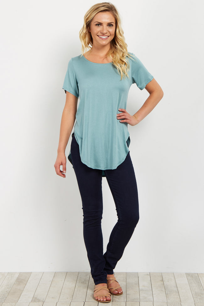 Sage Crisscross Back Top
