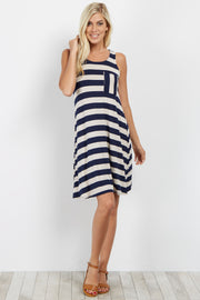 Navy Striped Tank Dress