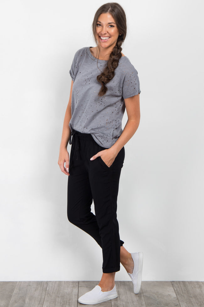 Black Drawstring Trousers
