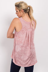 Peach Heathered Tank Top