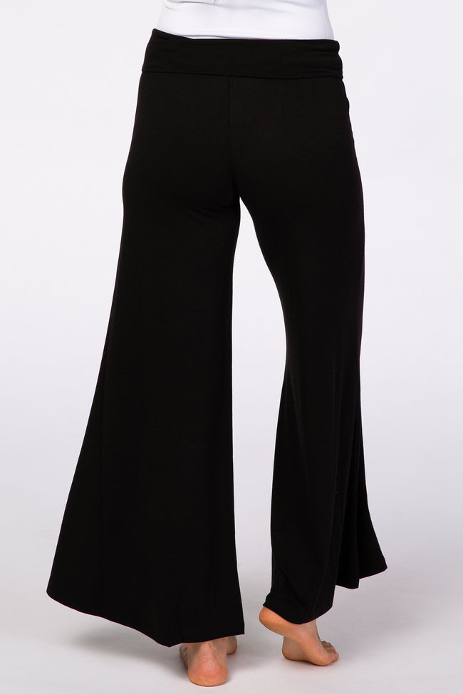 Black Wide Leg Lounge Pants