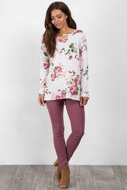 Pink Skinny Maternity Jeggings