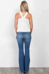 Light Blue Maternity Flare Jeans