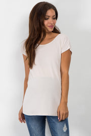 White Wrap Tie Back Maternity Top