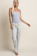 Grey Heathered Terry Maternity Pajama Pants