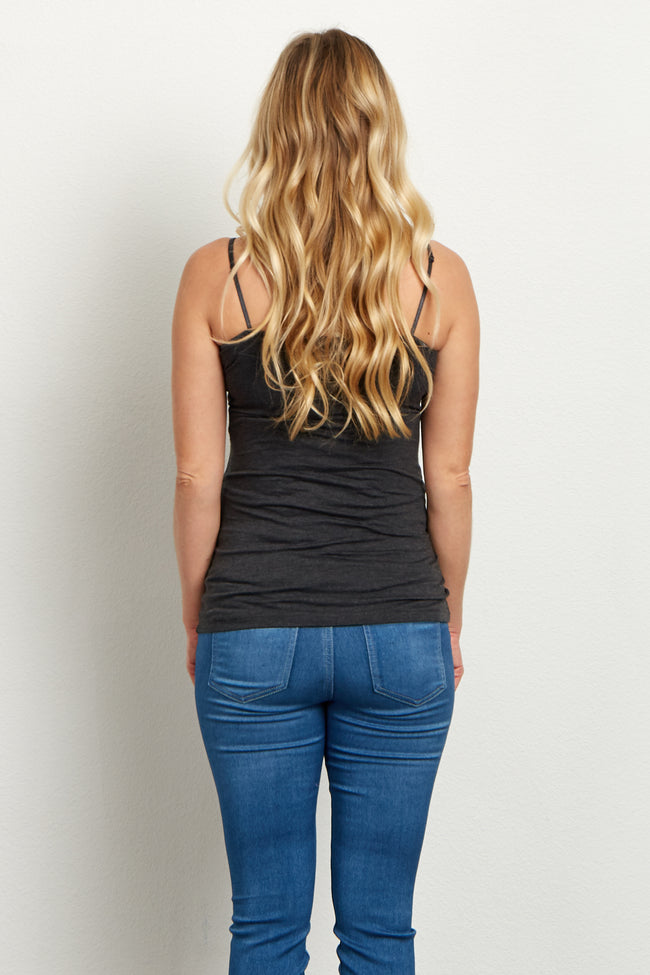 Charcoal Grey Maternity Cami