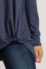 Navy Basic Knot Sweater
