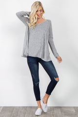 Heather Grey Long Sleeve Sweater
