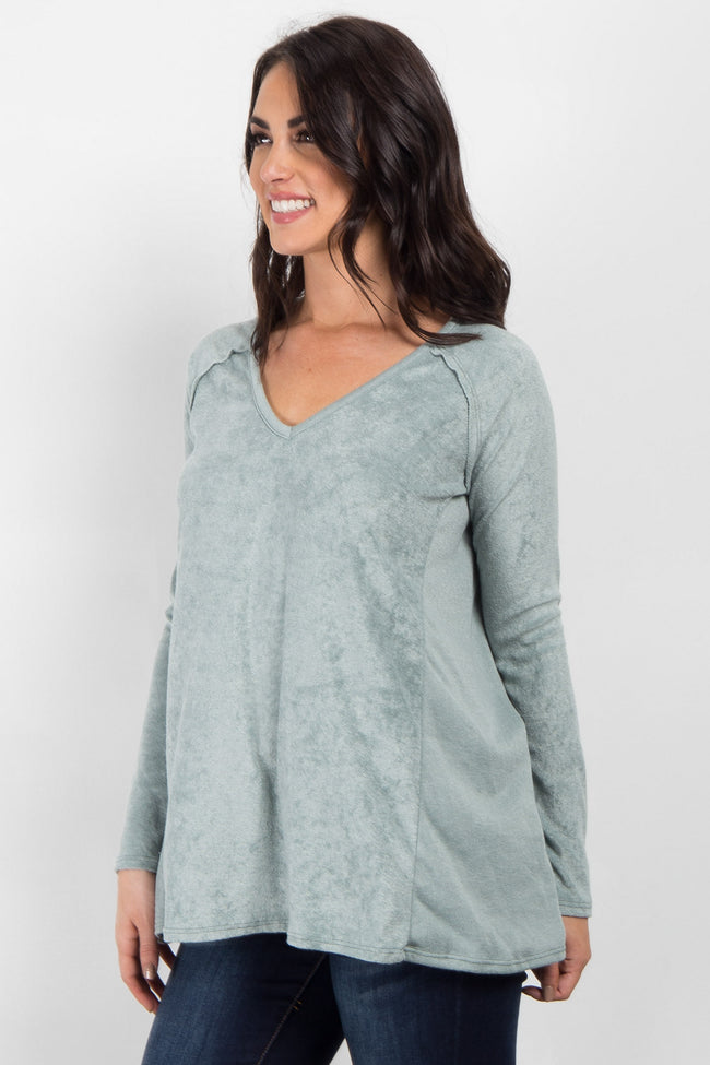 Light Olive Long Sleeve Sweater