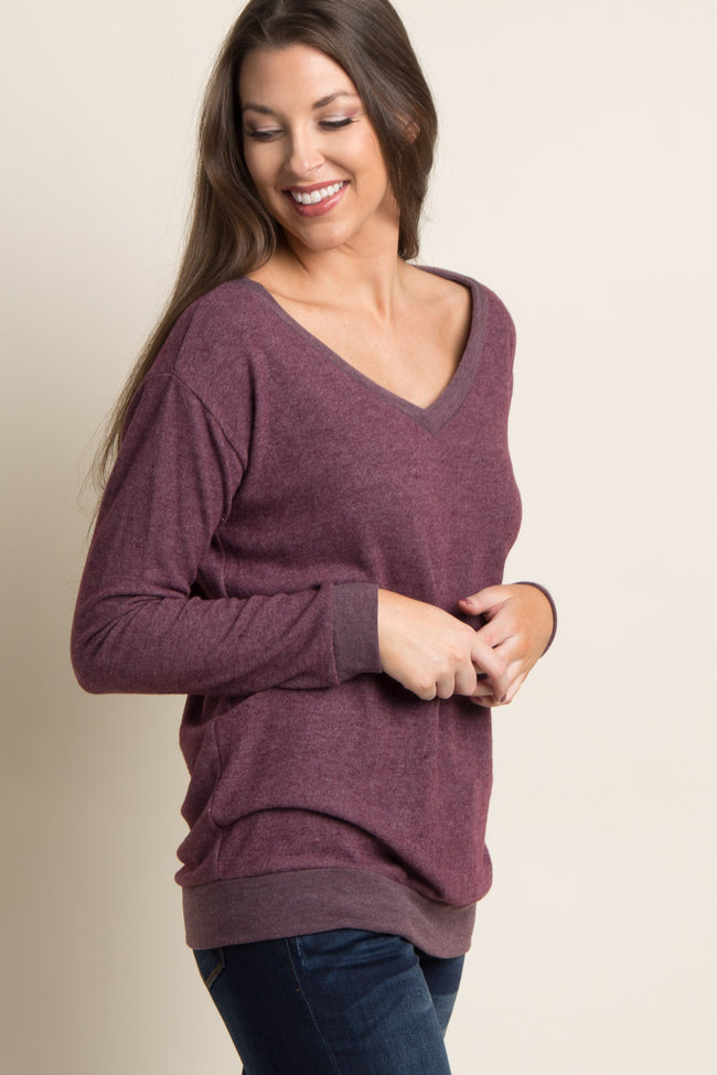 Burgundy Soft Knit Top