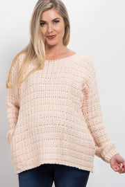 Pink Long Sleeve Knit Maternity Sweater