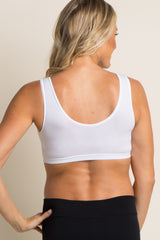 White Wrap Front Maternity/Nursing Bra