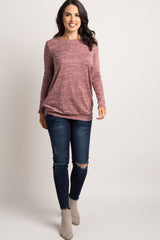 Pink Crisscross Sleeve Sweater