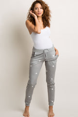 Grey Polka Dot Joggers
