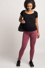 Mauve Maternity Leggings