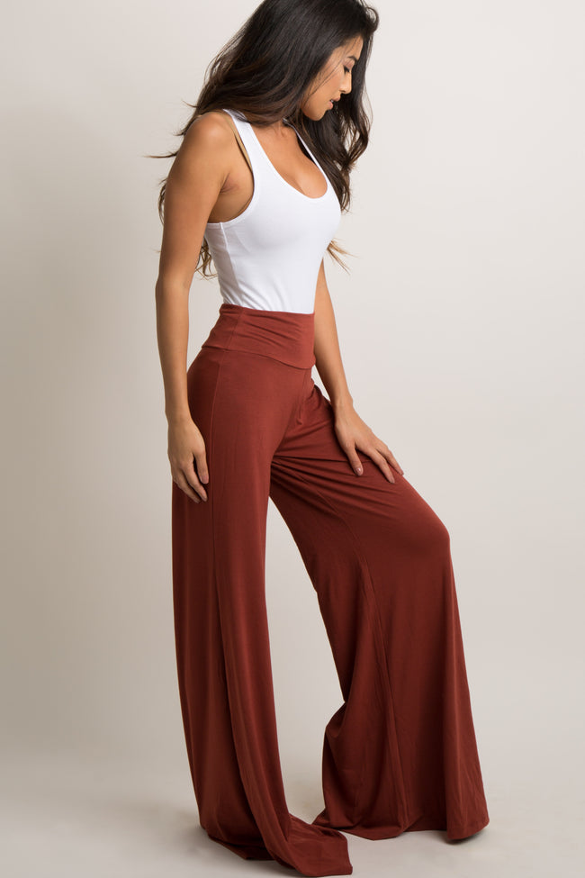 Rust Wide Leg Lounge Pants