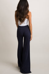 Navy Blue Wide Leg Lounge Pants