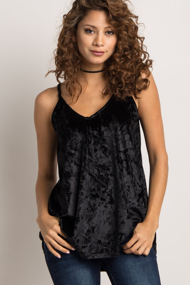 Black Crushed Velvet Cami