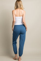 Blue Drawstring Sweatpants