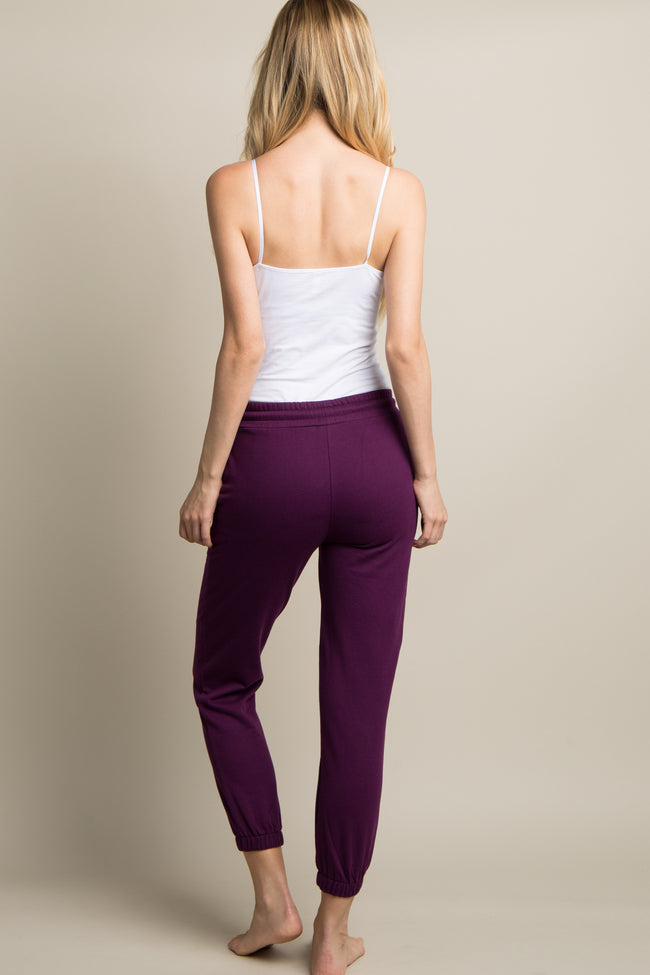 Purple Drawstring Sweatpants