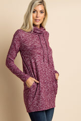 Burgundy Cowl Neck Knit Tunic