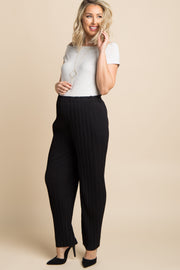Black Pleated Chiffon Maternity Pants