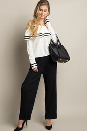 Black Pleated Chiffon Pants