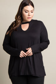 Black Solid Cutout Front Plus Top